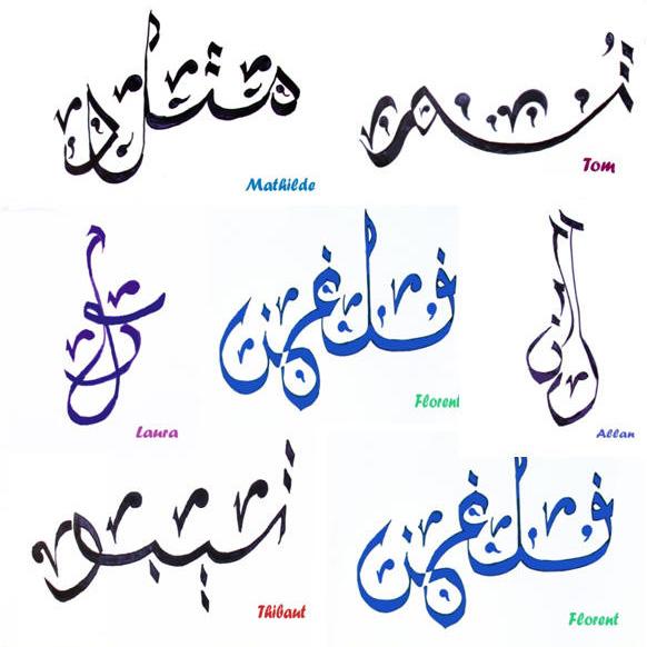 Calligraphie arabe traduction - Tatouage ecriture arabe ...